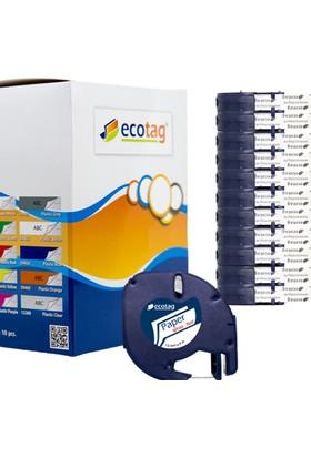 Ecotag Dymo Letratag Muadili Kağıt Şerit Etiket 12 mm x 4 mt