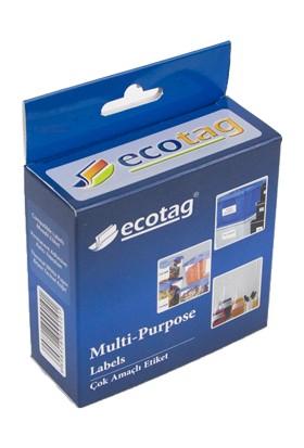 Ecotag Dymo Muadili Çok Amaçlı Etiket 24 mm x 12 mm 2000 Adet S0722530