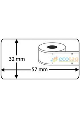 Ecotag Dymo Muadili Çok Amaçlı Etiket 32 mm x 57 mm 1000 Adet S0722540