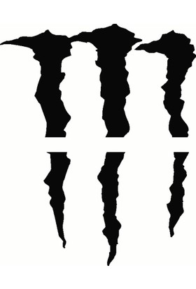Far İçin Monster Pençe - Oto Sticker - 17x20 cm Siyah