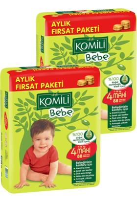 Komili Bebe Bebek Bezi Fırsat Paketi Maxi 4 Beden 176 Adet