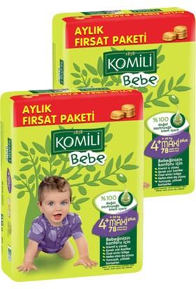 Komili Bebe Bebek Bezi Fırsat Paketi Maxi Plus 4+ Beden 156 Adet