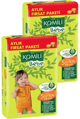 Komili Bebe Bebek Bezi Fırsat Paketi Junior 5 Beden 144 Adet