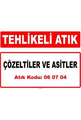 A 060704 - Çözeltiler Ve Asitler, Örneğin Kontakt Asiti