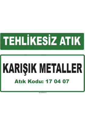 A 170407 - Karışık Metaller