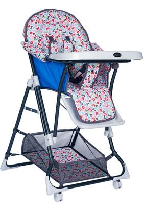 Baby Home Bh-1450 Ayarlı Bebek Mama Sandalyesi Mavi