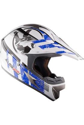 Ls2 Mx433 Stripe Mavi Kask
