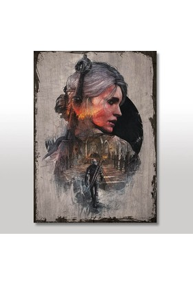 Tablomega Ahşap Tablo Eski Witcher 3 Steelbook Art