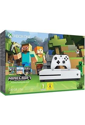 Microsoft Xbox One S 500Gb Oyun Konsolu+ Mınecraft Oyun Kodu Mıcrosoft Garantili