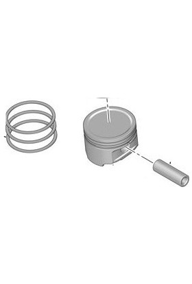 MAHLE PEUGEOT 306 Piston & Segman 1997 - 1999 (0111AT)