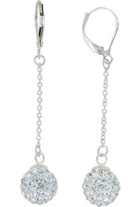 Tevuli 925 Ayar Gümüş Kristal Taşlı 925 Ayar Gümüş Küpe E01475