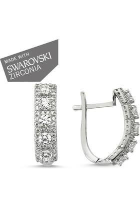 Tevuli 925 Ayar Gümüş Swarovski Zirconia Küpe E82722
