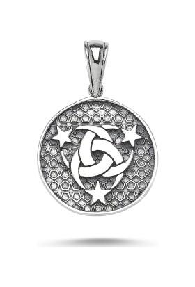 Tevuli 925 Ayar Gümüş Teşkilat-I Mahsusa Erkek Kolye Ucu P82478