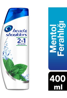 Head & Shoulders 2'si 1 Arada Şampuan Mentol Ferahlığı 400 ml
