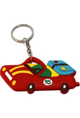 Modaroma Ralli Araba Kırmızı Pvc Anahtarlık