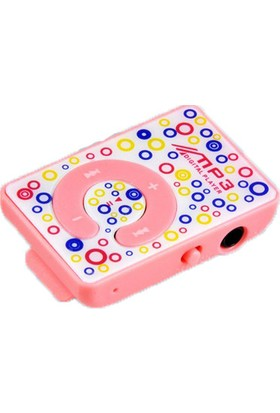 Platoon MP3 Player Renkli Desenli + 8 GB Hafıza Kartı + Platoon Pembe Kulaklık
