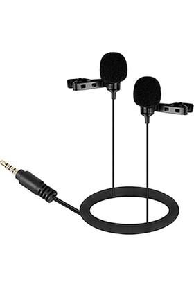 Boya BY-LM400 İkili Telefon Yaka Mikrofonu