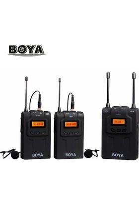 Boya BY-WM8 Çift Vericili Prof. Wireless Mikrofon