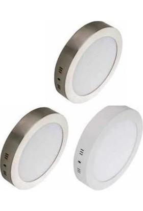 Forlife Fl-2206 10'' 24W Sıva Üstü Yuvarlak Led Panel Armatür(Beyaz Kasa 6500K Beyaz Işık)
