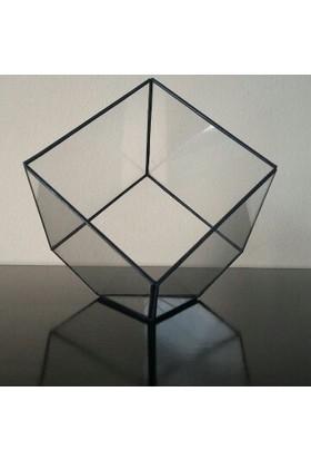 Green Sensations Qube Geometrik Vitray Cam Fanus