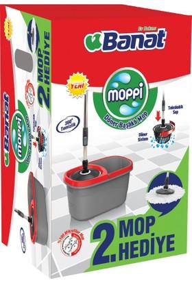 Banat Moppi Döner Başlıklı Temizlik Seti + 2. Mop