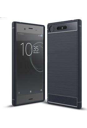 CoverZone Sony Xperia XZ1 Kılıf Room Silikon + Cam