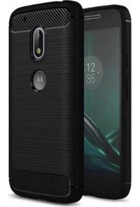 CoverZone Motorola Moto G4 Kılıf Room Extreme Silikon + Cam