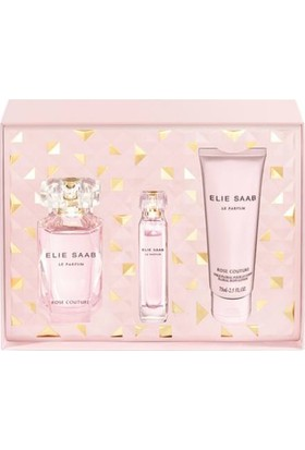 Elie Saab Rose Couture EDT 90 ml + Rose Couture EDT 10 ml + Vücut Losyonu 75 ml Kadın Parfüm Set