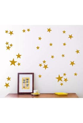 Decolihgt Gold Sarı Yıldız Yağmuru Sticker