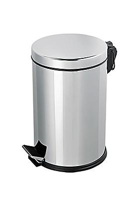 Flosoft Paslanmaz Çelik Pedallı Çöp Kovası 8 Lt