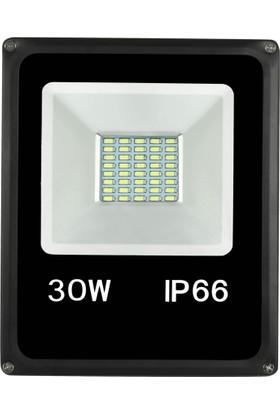 Sesay Led Aydınlatma 30 Watt Slim Led Projektör Beyaz Işık