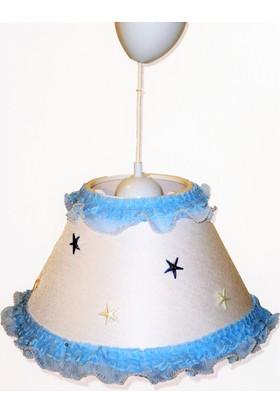 Bebemia Bebek Çocuk Odası Sarkıt Avize Mavi Yıldızlı