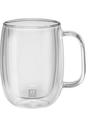 Zwilling Çift Camlı Kulplu 2'li Kahve Bardağı Seti - 355 ml