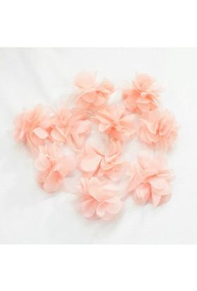 Şifon Çiçek - Somon - 10'lu