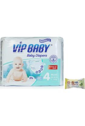 Bebiko Vip Baby Bebek Bezi Active & Soft Maxi 4 Beden 32 Adet