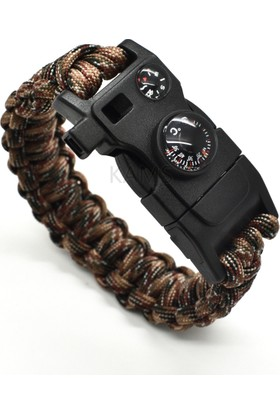 Paracord Survival Bileklik - 15 İn 1 Hp301Paracord15