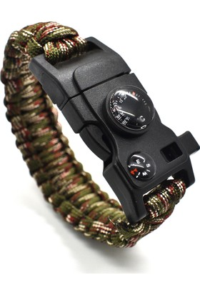 Paracord Survival Bileklik - 15 İn 1 Hp303Paracord15