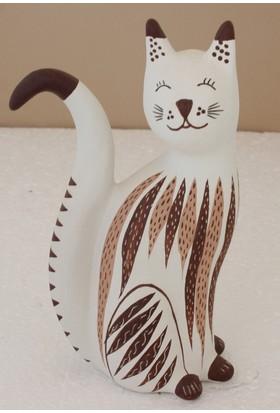Mumu Dekoratif Kedi - El Yapımı Terra Kota