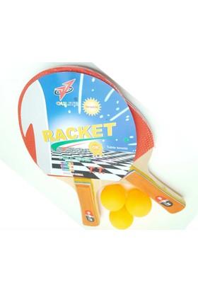 B.B.H Çantalı Masa Tenisi Raketi Ve Top Seti 2 Raketi 3 Pinpon Topu