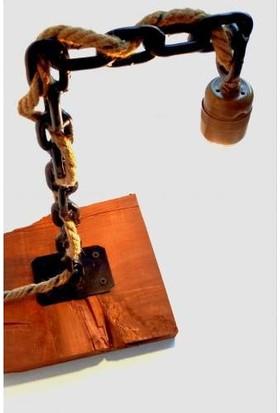 Dekorumbu Retro Halat Kablolu Dekoratif Masa Lambası 14810022