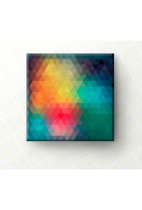 Kare Kanvas - Dekoratif Soyut Sanatsal Kanvas Tablo (Canvas) - 1002 - 50 x 50 Cm
