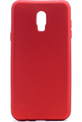 Case 4U Samsung Galaxy C8 Kılıf Ultra İnce Mat Silikon Kırmızı