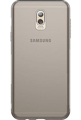 Case 4U Samsung Galaxy C8 Kılıf Ultra İnce Siyah / Füme