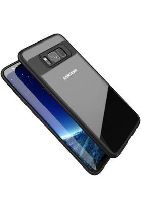 Case 4U Samsung Galaxy S8 Kılıf Silikon Buttom Siyah