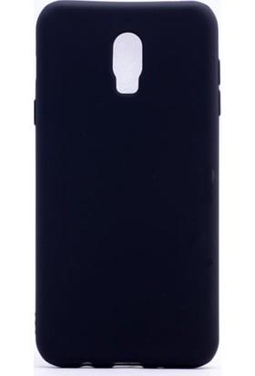 Case 4U Samsung Galaxy C8 Kılıf Ultra İnce Mat Silikon Siyah
