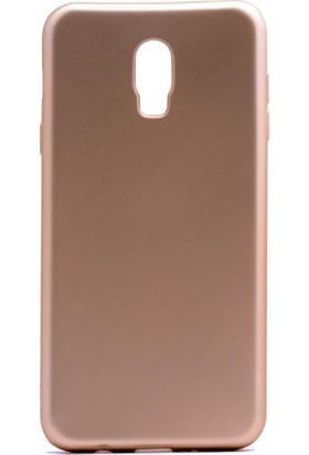 Case 4U Samsung Galaxy C8 Kılıf Ultra İnce Mat Silikon Altın
