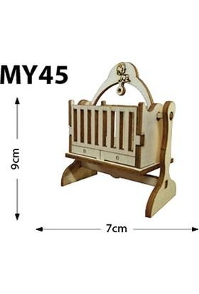 Okutan Hobi My45 Minyatür Sallanan Beşik Ahşap Obje