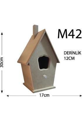 Okutan Hobi M42 Kuş Evi Ahşap Obje