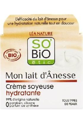So'Bio Etic Organik Eşek Sütü İçerikli Nemlendirici Krem 50 ml.