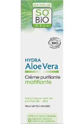 So'Bio Etic Organik Aloe Vera İçerikli Matlaştırıcı Gündüz Kremi 50 ml.